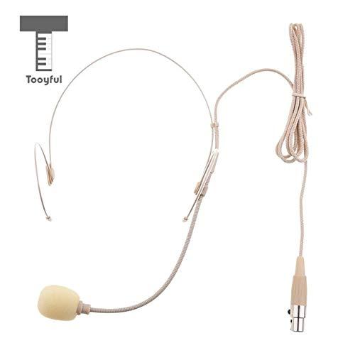 Value-5-Star - Professional 3.5mm Mono, 3Pin XLR, 4Pin XLR Connector Double Earhook Wired Headworn Condenser Megaphone Microphone Beige ()