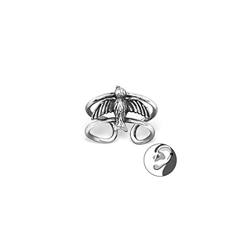 Bird Ear Cuffs Ear Pins 925 Sterling Silver For Women and Girls