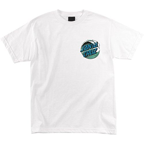 Santa Cruz Mens Wave Dot Short-Sleeve Shirt Medium White