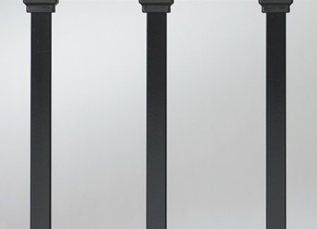 "Estate 26"" Square Baluster, Black, 100 Pk. (Deckorators 158469)"