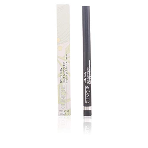 Clinique Pretty Easy Liquid Eyelining Pen | Precision Brush with 24-Hour Smudge and Budge-Resistant Wear | Ophthalmologist Tested | Free of Parabens, Phthalates, and Fragrance | Black - 0.02 oz