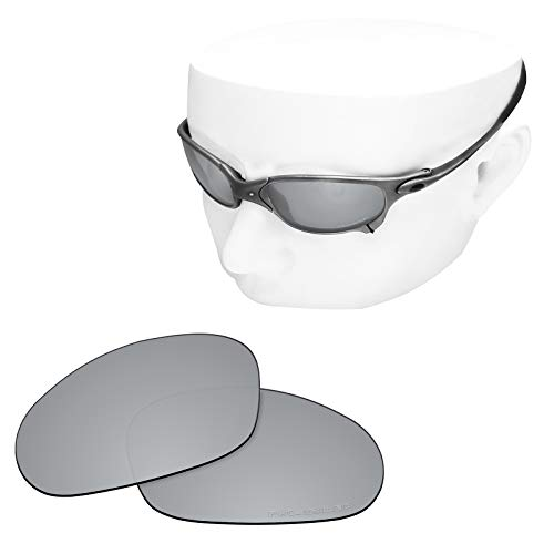 OOWLIT Replacement Sunglass Lenses for Oakley Juliet Titanium Polycarbonate Combine8 Polarized