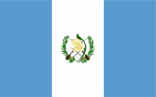 carsticker flag decal sticker colors in two sizes Guatemala laminated very long durable