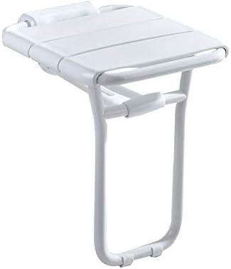 浴室のシャワーの浴室の座席壁に取り付けられた浴室のスペースを節約し、掃除しやすい簡単で便利な90°折り畳み式のデザイン折りたたみシャワーベンチシート、高齢者の障害者および限られたモビリティのための浴室のシャワースツール (Color : 白)