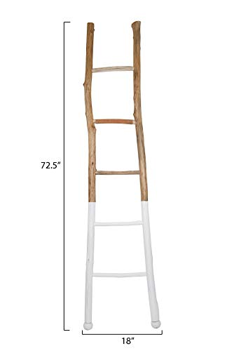 Creative Co-Op Dipped Decorative Wood Ladder, White