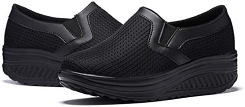Épaisses Bottom Flats Sneakers Bande élastique Air Mesh Slip on Riding Running Chaussures de Plein air