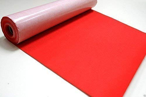 MATERIAL 5 Mtr x 450mm wide roll of WINE RED Craft FELT BAIZE