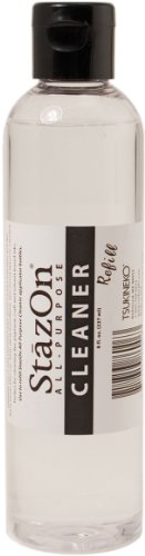 Solvent Cleaner Ink Stamp Stazon - Tsukineko 8-Ounce Refill StazOn All-Purpose Stamp Cleaner, Lightly Lemon Scented