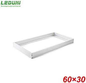LEDUNI ® Marco Panel LED Empotrable Kit de Superficie Panel 60X30 Marco de Montaje Superficie Borde Blanco 60X30