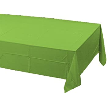 Creative Converting Touch of Color Plastic Table Cover, 54 by 108-Inch, Fresh Lime
