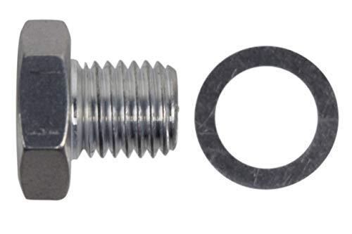 ICT Billet LS Cylinder Head Plug for Coolant Temperature Sensor Hole M12-1.5 LS1 LSX LS3 Fitting Hose Thread Fuel Oil Gas Coolant Connector Pipe End Braided Plumbing Port Fluid Aluminum 551158