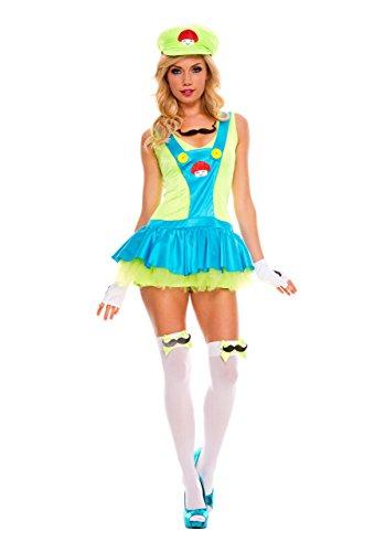 Luigi Outfit (Rave Wonderland Women's Luigi Plumber Outfit Extra Large)