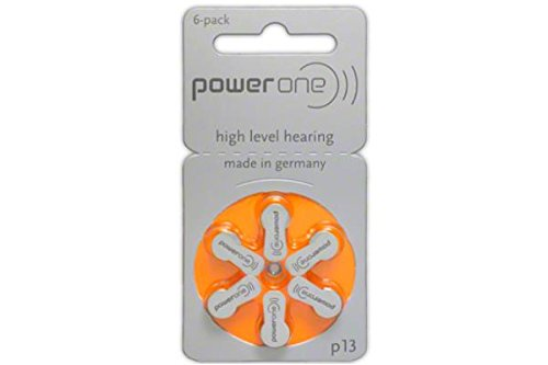 powerone Size 13 Hearing Aid Batteries Zinc Air P13 Pack of 60