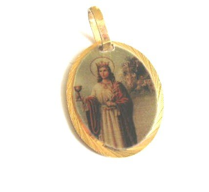 St Saint Barbara Santa Barbara Religious Medal Ready to Be - Barbara Santa St State