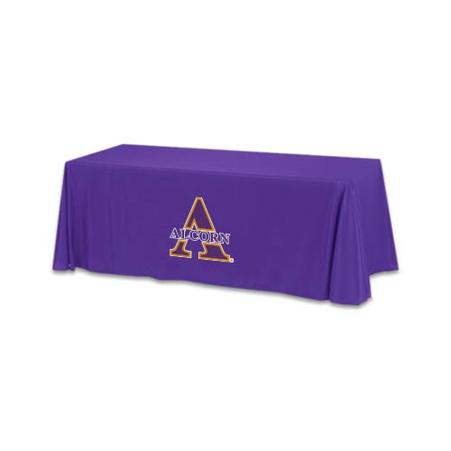 Alcorn State Purple 6 foot Table Throw 'Alcorn Official Logo' by CollegeFanGear