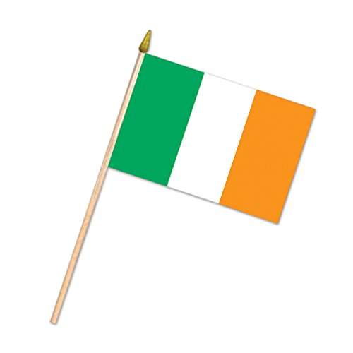 Beistle 54278 Rayon Irish Flag, 4 by 6-Inch, -