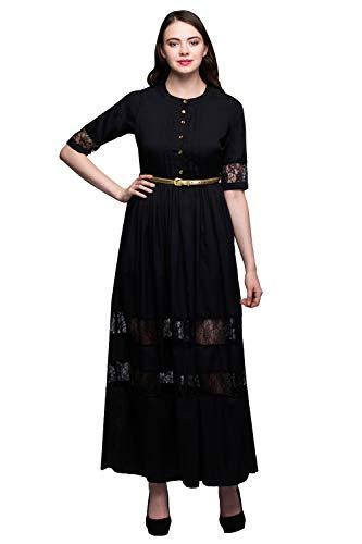 AAYU Black net Border Dress
