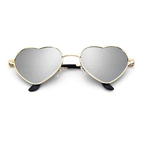 UNIQUEBELLA Lunettes de soleil Femme Mode UV400 Cœur #8 Gris hmunda7X