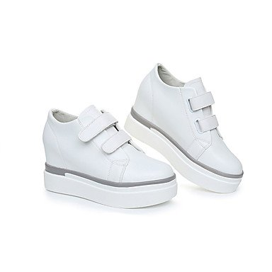 à Femme Semelles Chaussures Talon Confort Légères Automne Talons white Similicuir Décontracté ggx LvYuan Semelles CompenséBlanc Légères Printemps Confort qB5ftO
