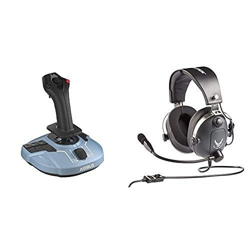 Thrustmaster TCA Sidestick Airbus Edition (Windows) + Thrustmaster T.FLIGHT U.S. AIR FORCE EDITION GAMING AURICULARES (PS4, XBOX Series X / S, One, PC)