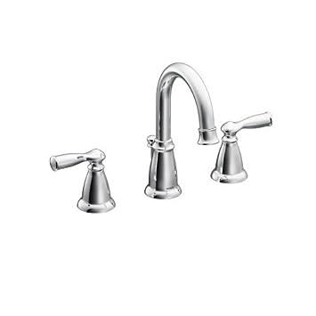 Moen WS84924 Two-Handle High Arc Bathroom Faucet, Chrome - - Amazon.com