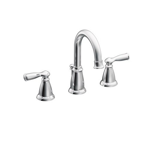 Moen WS84924 Two-Handle High Arc Bathroom Faucet, Chrome by Moen