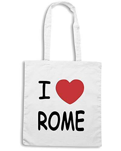 Shirt HEART TLOVE0009 I Borsa Shopper Bianca ROME Speed 6Uwd1q6