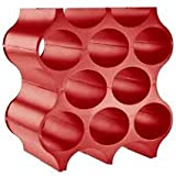 koziol 3596583 portabottiglie cantinetta set-up rosso lampone capacità 10 bottiglie