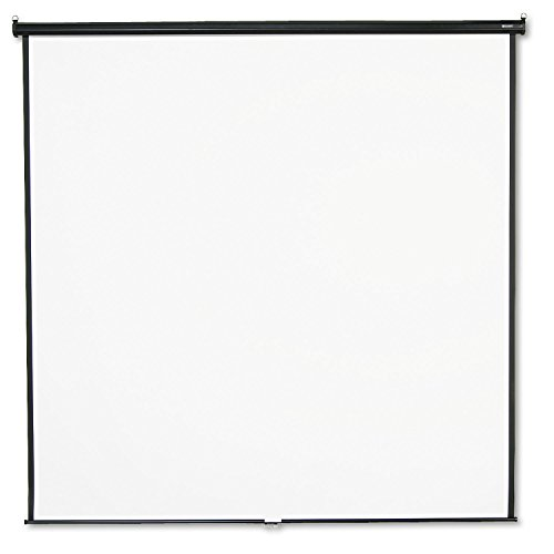 "QRT696S Quartet 696S Wall/Ceiling Projection Screen, 96""x96"", White Screen"