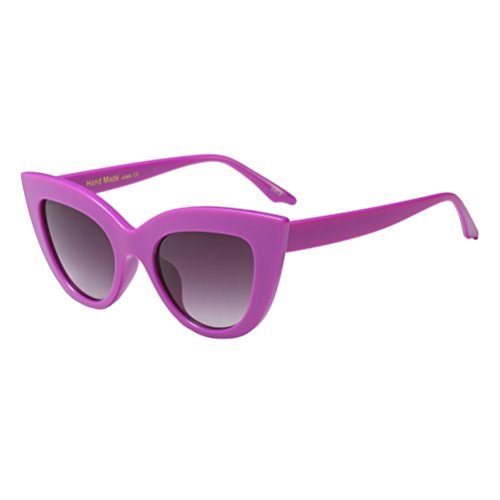Mujeres Cat de Retro Designer UV Purple Eye Gafas Zhhlaixing Eyewear Eyeglasses Protection Sol EqwIYxa