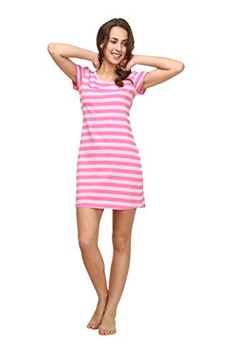 [Suntasty Women's Nighties Cotton Chemise Striped Nightshirt Nightgown Robes(Pink,M,1001W)] (Piglet Costume)