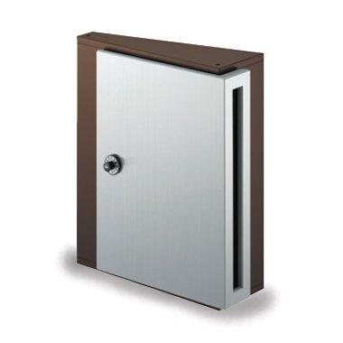 郵便ポスト NASTA デザインポスト KS-MB31S-L 静音大型ダイヤル錠 壁付けポスト ビターブラウン B00QX1254O 17820 ビターブラウン ビターブラウン