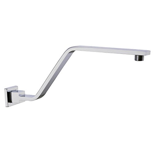 HANEBATH Brass S Style 15 Inch Extension Height Shower Arm with Flange, Chrome