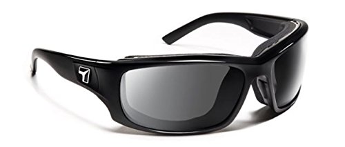 7 Eye Air Shield Panhead Sunglasses,SharpView Gray Lens,Glossy Black - Panhead Sunglasses 7eye