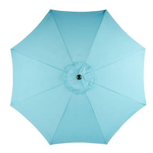 Mosaic 9 Ft Outdoor Patio Round Steel Market Beach Umbrella (Blue Light 02)
