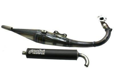 (Polini Team 3 Exhaust for Horizontal Minarelli)
