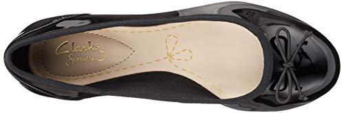 Couture Bloom Ballerine Clarks Patent black Nero Donna A1dwx5wq
