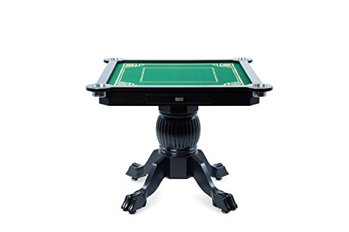 BBO Poker Levity Game and Poker Table for 4 Players with Mahjong Graphic Playing Surface, 40.5-Inch Square by BBO Poker (Image #1)