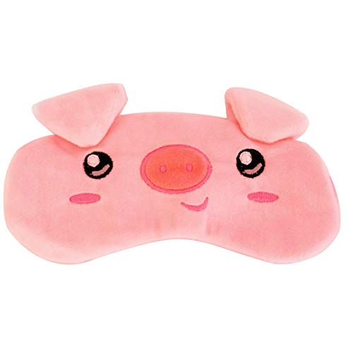 Cute Animal Novelty Pink Pig Eye Mask for Sleeping Pig Sleep Mask Silk Eye Mask for Sleeping Women Silk]()