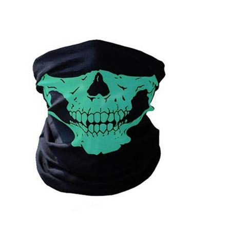 UltraZhyyne - Christmas Cosplay Exquisite Mask Festival Skull Masks Skeleton Outdoor Motorcycle Bicycle Multi Function Neck Warmer Ghost Half Face Mask Scarf [D] ()