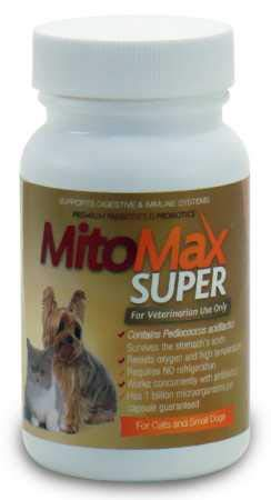 MitoMax Super Probiotics for Cats and Dogs Small (90 Caps) by MitoMax