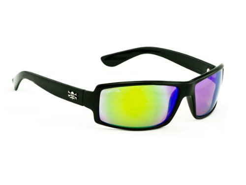 Calcutta New Wave Sunglasses (Black Frame, Green Mirror - New Sunglasses Brand