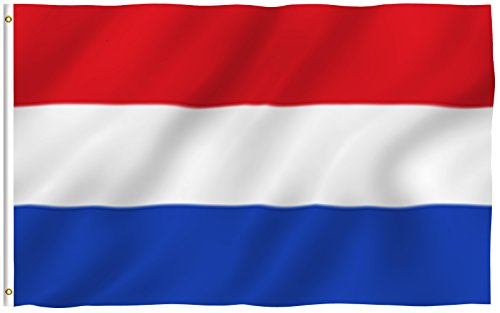 Anley  Fly Breeze  3X5 Foot Netherlands Flag   Vivid Color And Uv Fade Resistant   Canvas Header And Double Stitched   Holland National Flags Polyester With Brass Grommets 3 X 5 Ft