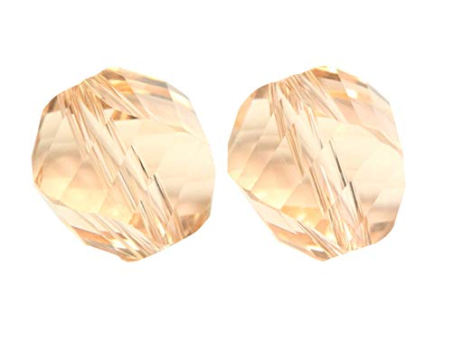 50 6mm Adabele Austrian Helix Crystal Beads Light Peach Compatible with Swarovski Preciosa Crystals 5020 SSH-618 ()