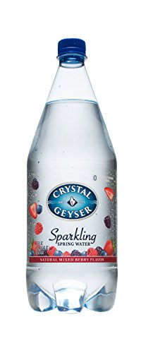Crystal Geyser Sparkling Spring Water, Mixed Berry, 1.25 Liter PET Bottles, No Artificial Ingredients, Sweeteners, Calorie Free (Pack of 12)