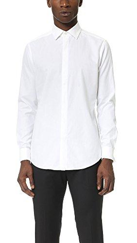 Theory Men's Dover Tuxedo Shirt, White, 16