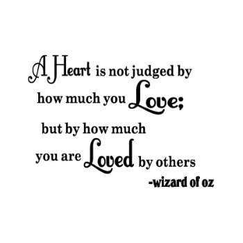 Wizard Of Oz Vinyl Wall Quote Decal Heart Is NOT Judged Sticky Imaginations  Quotes