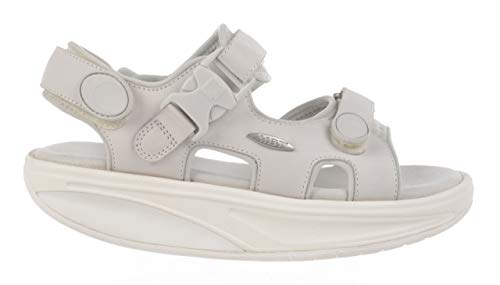 Curva suela Sandalias Zapato Equilibrio W Kisumu Mbt Nubuck White De Vestir señora Mujer 700823 Classic xZn7nXP