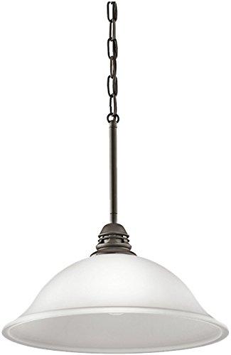 Kichler 42071OZW Stafford Pendant 1-Light, Olde Bronze