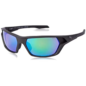 Spy Optics Quanta Ansi Matte Wrap Polarized Sunglasses,Black,64 mm